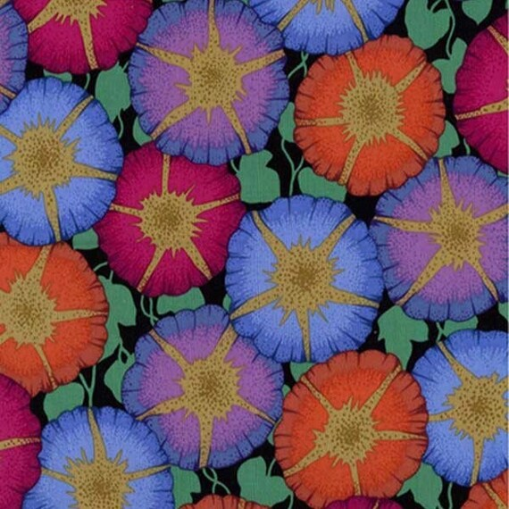 GLORY DARK Philip Jacobs for Kaffe Fassett Collective Sold in 1/2 yd units Multiples cut as one length
