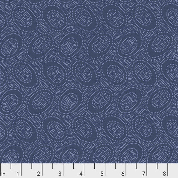 ABORIGINAL DOT DENIM PWGP071 Kaffe Fassett Collective Sold in 1/2 yd units - Multiple units cut as one length