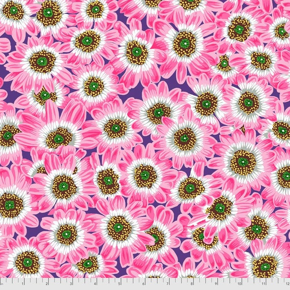 LUCY PINK  Philip Jacobs Kaffe Fassett Collective - - Sold in 1/2 yd increments  - Multiples cut continuous