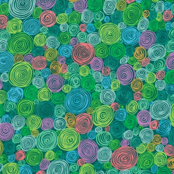 ROLLED PAPER GREEN Kaffe Fassett sold in 1/2 yard increments