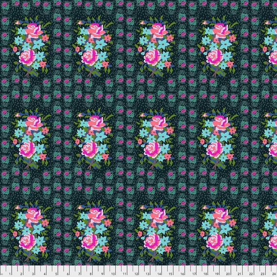 Pre-Order Keep on separate Order STITCHED BOUQUET  DIM - Anna Maria Horner - Apr 2020 - 1/2 yd units  - Multiples cut as one length