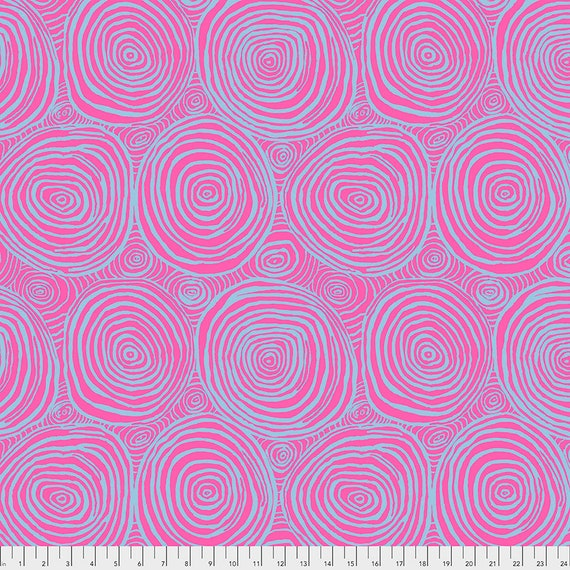 "FEBRUARY 2021 Pre-Order! Read Description! 108"" Wide Back ONION RINGS Pink Brandon Mably  Sold in 1/2 yd increments length"
