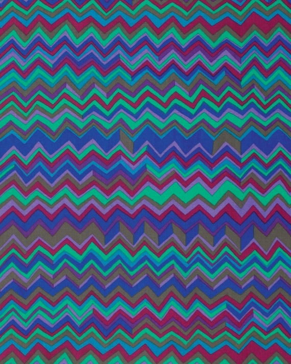 ZIG ZAG COBALT Blue BM043  Fall 2015 Brandon Mably for Kaffe Fassett Collective Sold in 1/2 yd increments