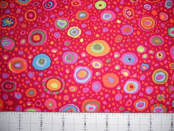 ROMAN GLASS Red GP01    Kaffe Fassett Sold in 1/2 yard increments Multiples cut as one length
