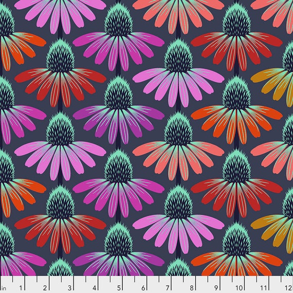 Pre-Order ECHINACEA GLOW - Anna Maria Horner - Apr 2020 - 1/2 yd units  - Multiples cut as one length