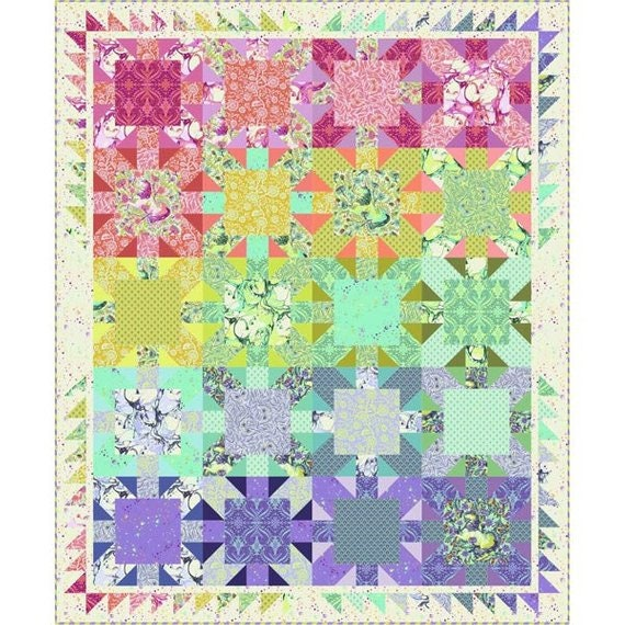 STARBURST Quilt Kit PINKERVILLE by Tula Pink  FREE shipping