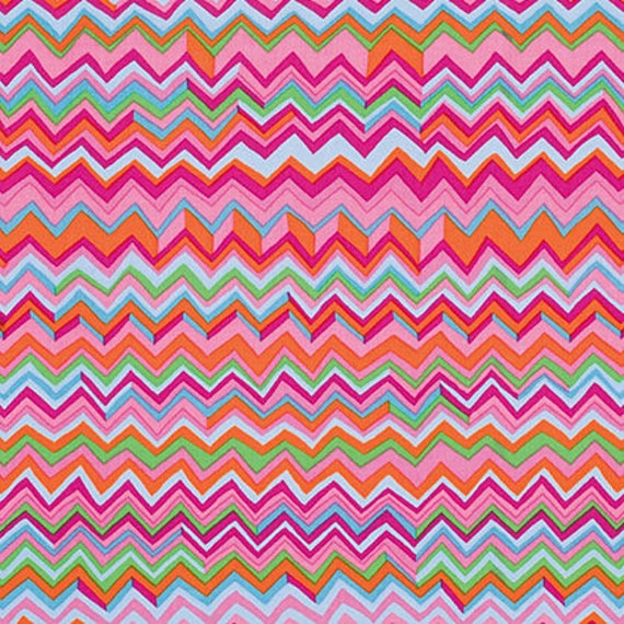 ZIG ZAG Pink PWBM043 Brandon Mably Kaffe Fassett Collective  1/2 yd - Multiples cut as one length  - USA based retailer