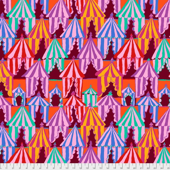 GLAMPING RED Brandon Mably PWBM066.BLUEX Sold in 1/2 yard increments