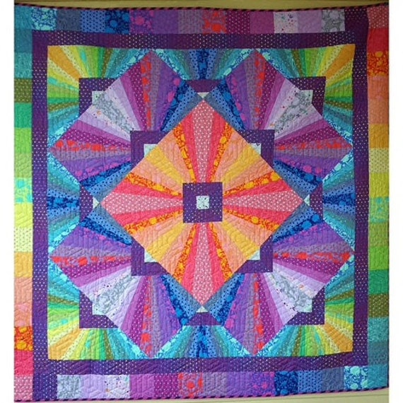 PREORDER SOLAR FLARE Quilt Kit - True Colors collection by Tula Pink - Delivery July/August 2021