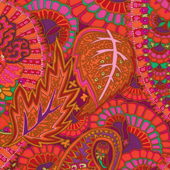BELLE EPOCH Red Kaffe Fassett   1/2 yd - Multiples cut continuously