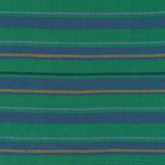 ALTERNATING STRIPE TEAL Woven Stripe Kaffe Fassett Sold in 1/2 yd increments  Multiples cut as one length