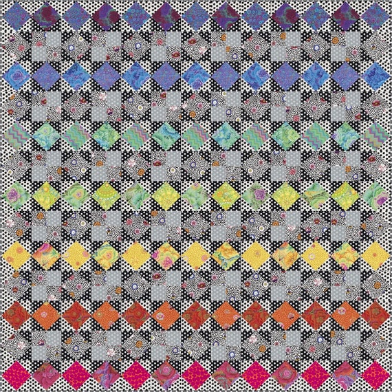 KFC SUMMER 2019 QUILTALONG - Bold Rainbow Star - Kaffetastic - Pre-Order -  Pay In Full Now  - Please read full description - Kaffe Fassett