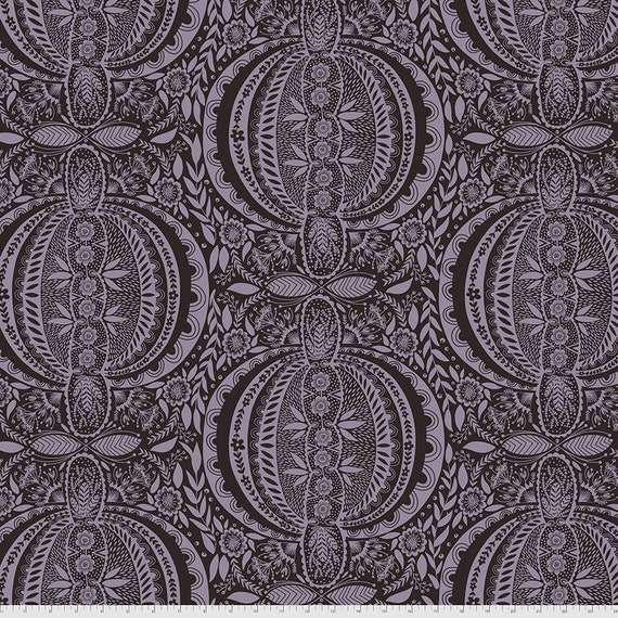 1/2 yd PROPAGATE MIDNIGHT PWAH006.MIDNIGHT Love Always by Anna Maria Horner - Sold in 1/2 yard  Multiples cut in one length