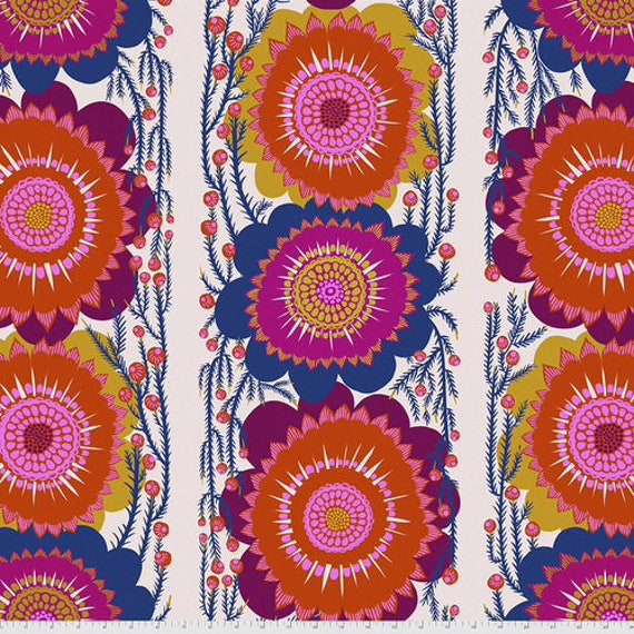 """July Sale! OPTIMISTIC Cream 108"""" Wide Backing Fabric - Bright Eyes -  by Anna Maria Horner - QBAH003.CREAM"""