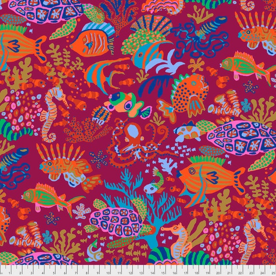 SCUBA Red Brandon Mably PWBM064.REDX  Sold in 1/2 yard increments item