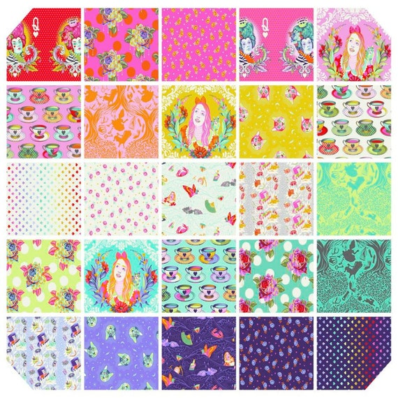 PREORDER - CURIOUSER & CURIOUSER  Fat Quarter Pack - Alice - Tula Pink  25 x Fat Quarters