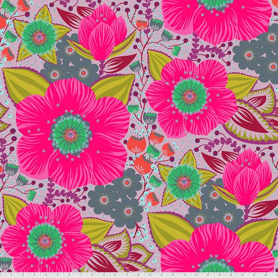 """108"""" HONORABLE MENTION LILAC Love Always by Anna Maria Horner - Sold in 1/2 yard - Multiples cut in one length"""