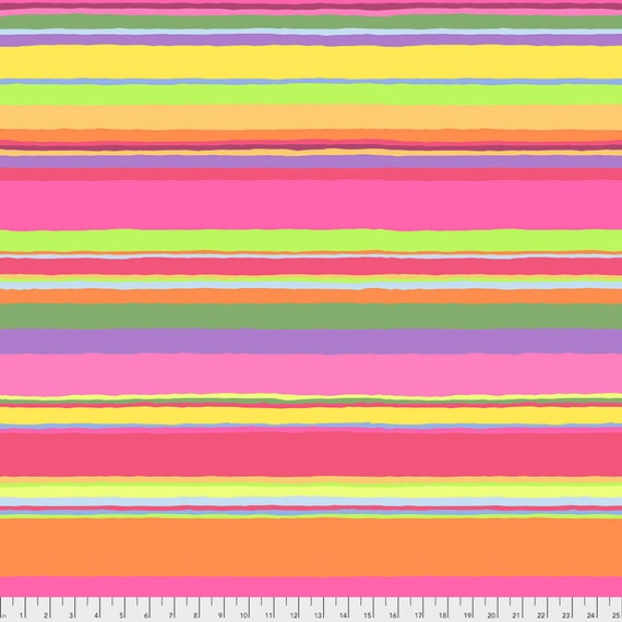 PROMENADE STRIPE Sunny PWGP178  Kaffe Fassett -  1/2 yd - Multiples cut one length  - USA based retailer