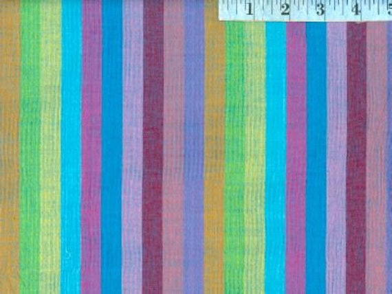 BROAD STRIPE SUBTERRANEAN  by Kaffe Fassett fabric sold in 1/2 yard increments