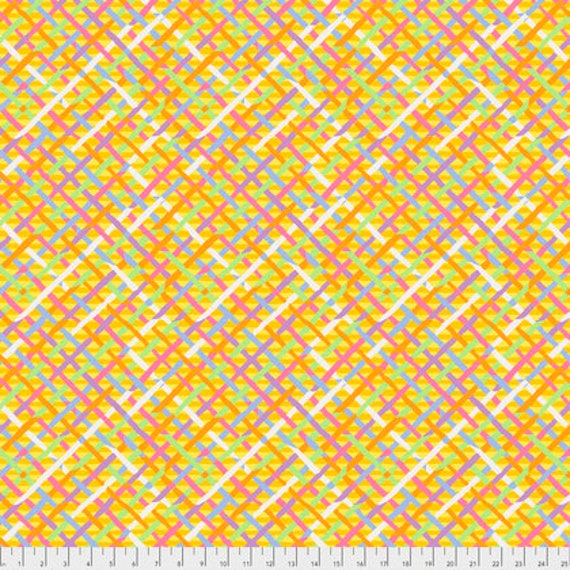 MAD PLAID GOLD Yellow Brandon Mably PWBM037 Kaffe Fassett Collective  - Sold in 1/2 yd increments - Multiple units cut as one length