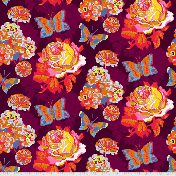 1/2 yd CLIPPINGS LUSH  Love Always PWAH038.LUSH by Anna Maria Horner - Sold in 1/2 yard  Multiples cut in one length