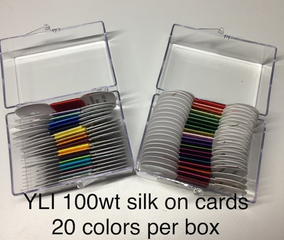 YLI 100wt SILK Thread  Box set 20 colors x 30 yds - 2 color ways available