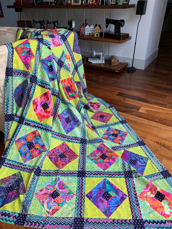 BRIGHT SQUARES On Point  Fabric Pack - Free US Shipping - Quilts In America  -  Kaffe Fassett Collective