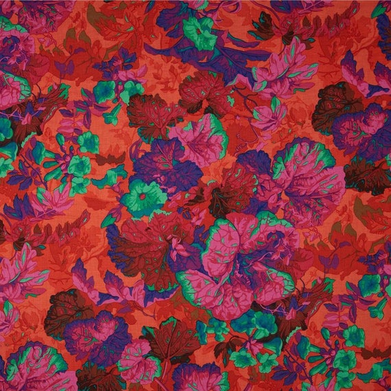 GRANDIOSE MAGENTA PJ13 by Philip Jacobs for Kaffe Fassett Collectives quilting fabric sold in 1/2 yd increments