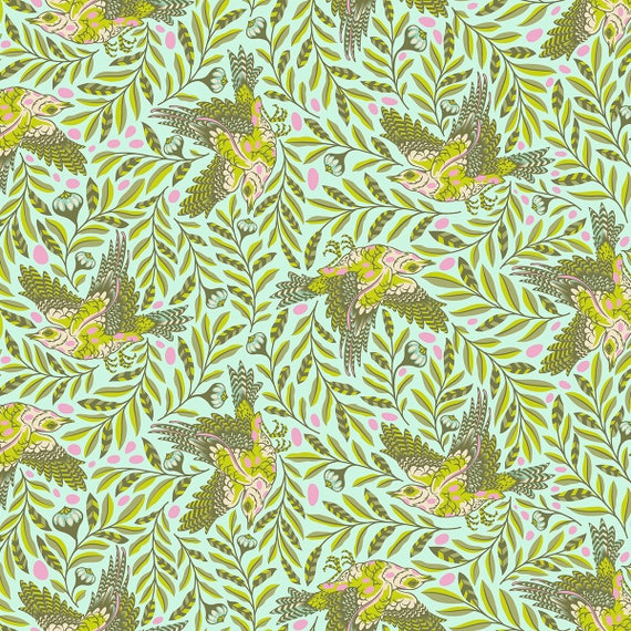 "FQ RE-TWEET Star Light Spirit Animal PWTP099.Starlet Tula Pink Fat Quarter 18""x22"""