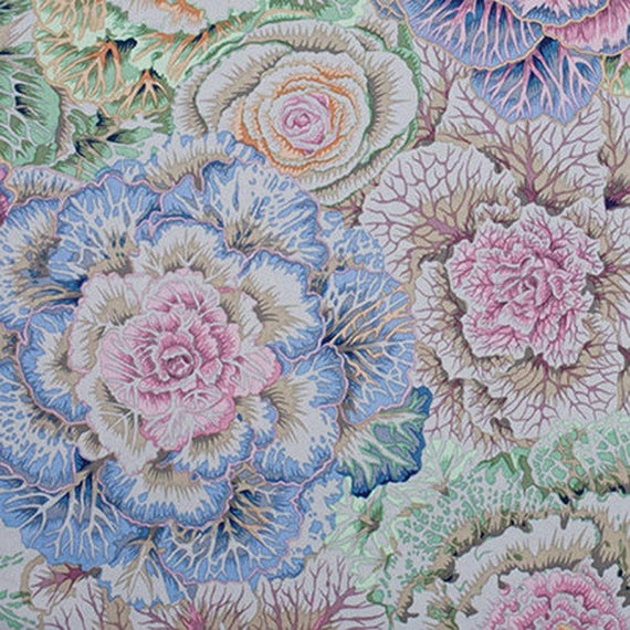 BRASSICA GREY Gray PJ51  Philip Jacobs Kaffe Fassett - Sold in 1/2 yd increments - Multiple units cut as one length