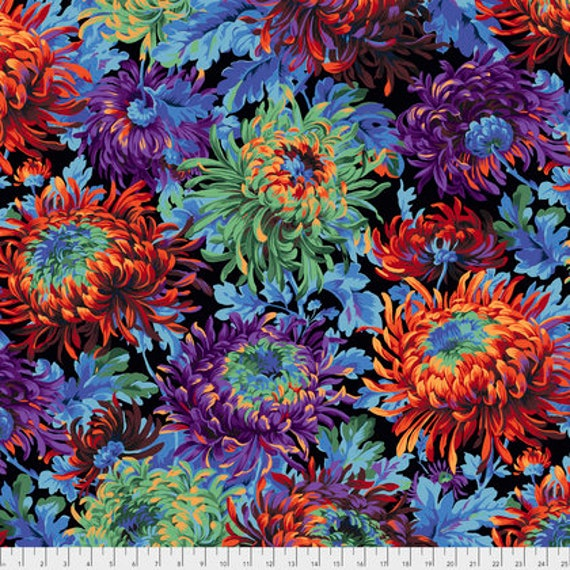 SHAGGY BLACK PJ072 by Philip Jacobs for Kaffe Fassett Collective Sold in 1/2 yd increments