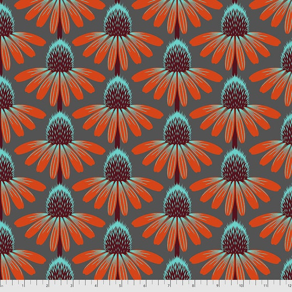 1/2 yd ECHINACEA BERRY PWAH075.Berry Love Always by Anna Maria Horner - Sold in 1/2 yard  Multiples cut in one length