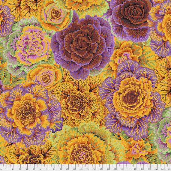 BRASSICA ORANGE PWPJ051 Philip Jacobs Kaffe Fassett Collective Sold in 1/2 yd increments