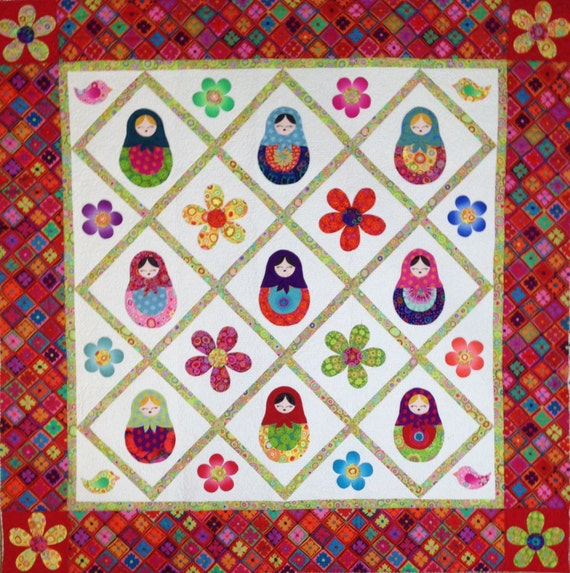 MATRYOSHKA NESTING DOLL Quilt Pattern only Designed by Sew Colorful