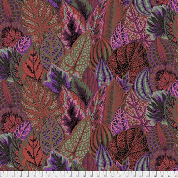 COLEUS DARK PWPJ030 Philip Jacobs Kaffe Fassett Collectives Sold in 1/2 yd increments