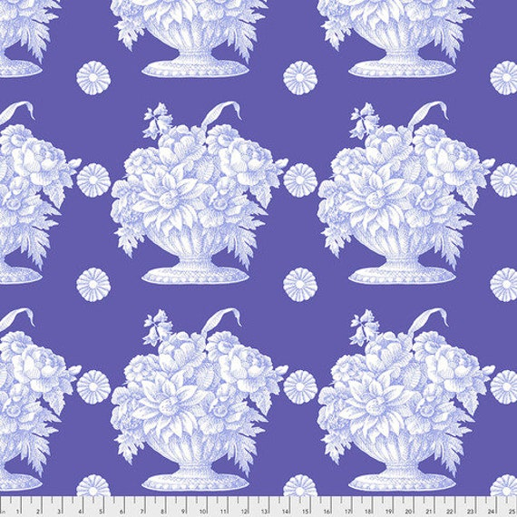 STONE FLOWER LAVENDER pwgp173.laven Kaffe Fassett  1/2 yd - Multiples cut continuously - Multiples cut as one length