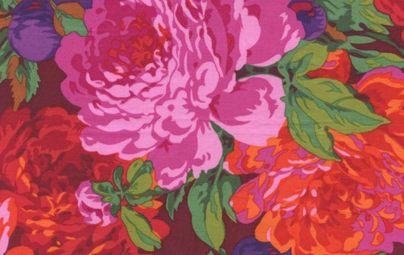 LUSCIOUS MAGENTA PJ11 Philip Jacobs Kaffe Fassett  1/2 yd - Multiples cut continuously