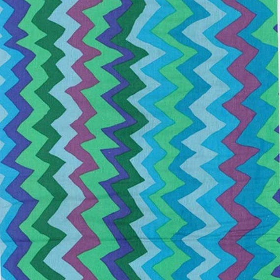 SOUND WAVES SPRING pwbm062 Brandon Mably for Kaffe Fassett Collective Sold in 1/2 yd increments