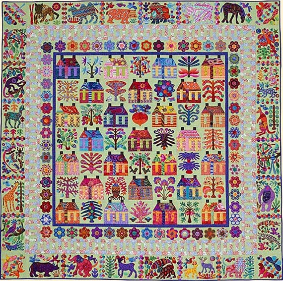 VILLAGE Pattern by Kim McLean - Appliqué