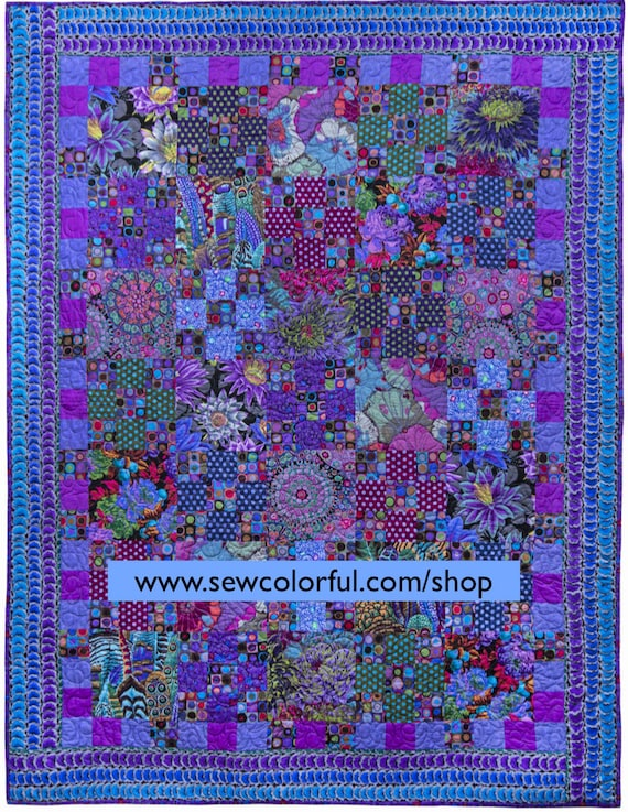 DOUBLE Fabric Pack TIDDLYWINKS ROSY   - Make a larger size!  Pattern in Kaffe's new book Quilts In An English Village