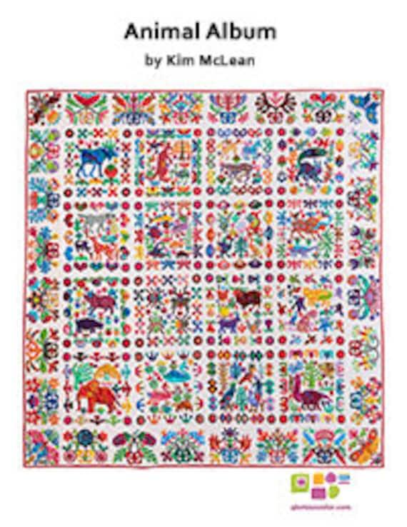 ANIMAL ALBUM - Pattern by Kim McLean - Appliqué
