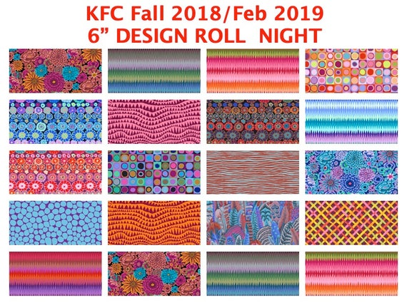 "NIGHT 6"" Design Roll  KFC Fall 2018 / Feb 2019 Kaffe Fassett Collective"