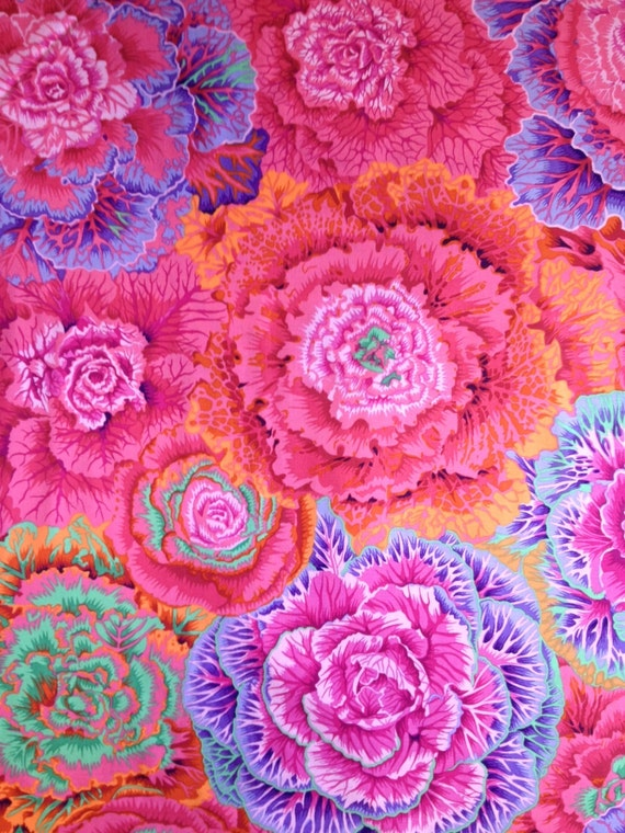 BRASSICA in RED Kaffe Fassett  1/2 yd - Multiples cut as one length  - USA based retailer