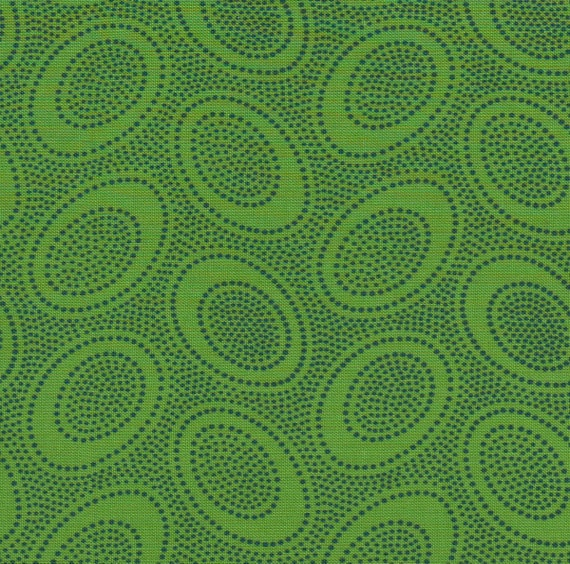 ABORIGINAL DOT GP71 LEAF Green GP71 Kaffe Fassett  1/2 yd - Multiples cut as one length