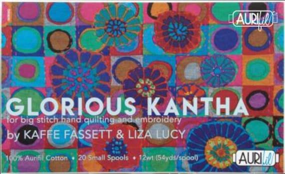 KANTHA  12 wt Cotton Thread set by AURIFIL , Liza Lucy & Kaffe Fassett  - USA based retailer