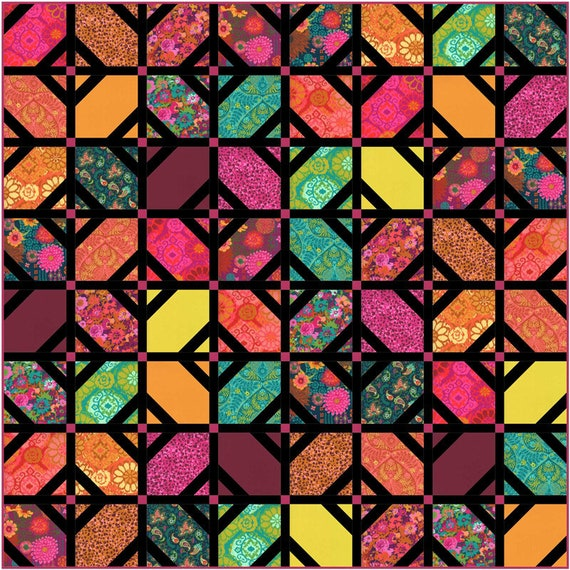 KASADA Quilt Kit by MODA  Designed by Crystal Manning For Moda Fabrics
