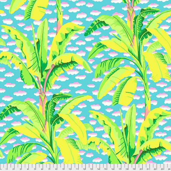 1/2 yd BANANA TREE Green pwgp179 - Kaffe Fassett Collective  Sold in 1/2 yd increments