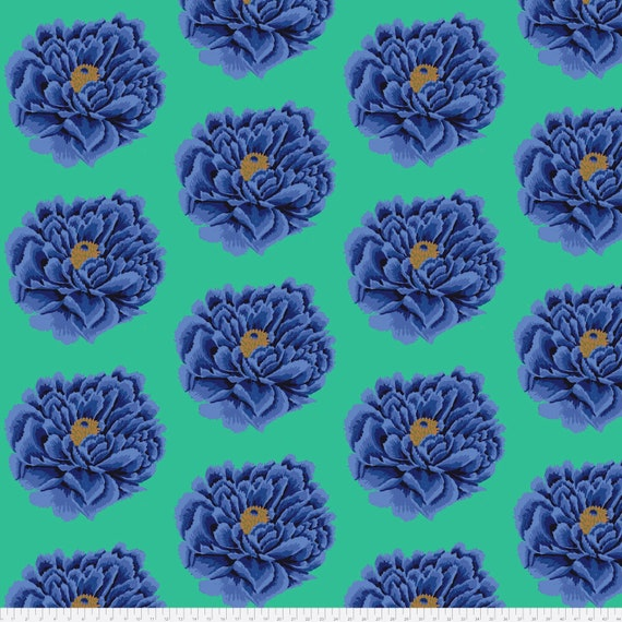 "FULL BLOWN  BLUE 108""  x  90"" Wide Backing  QBGP004.2blue Blue Kaffe Fassett Collective"