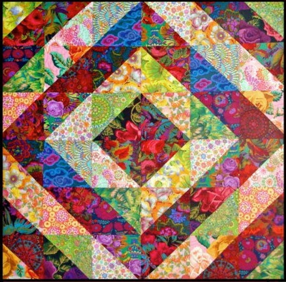 "TOWER BRIDGE Quilt Kit  -  54"" x 54""  Kaffe Fassett  and Philip Jacobs fabrics"