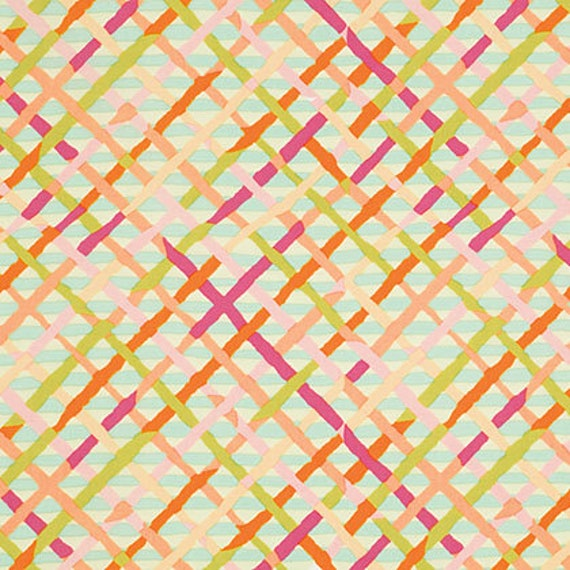 MAD PLAID PASTEL Brandon Mably PWBM037 Kaffe Fassett Sold in 1/2 yd increments
